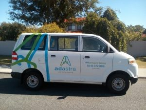 Laundry Delivery Van by Ad Astra Dry Cleaning in Perth